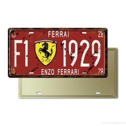 Plaque Immatriculation Enzo Ferrari