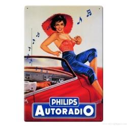 Plaque Philips Autoradio Pin-Up