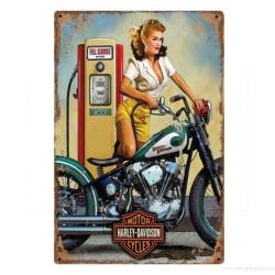 Plaque Harley-Davidson Pin-Up