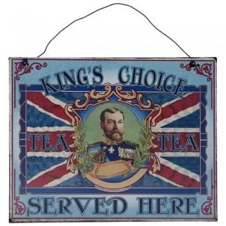 Plaque à suspendre King UK