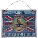 Plaque métal King's Choice