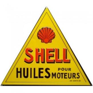 Plaque Shell Huiles Moteurs