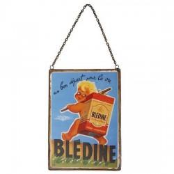 Plaque avec chaîne Blédine