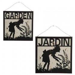 Plaque Jardin / Garden