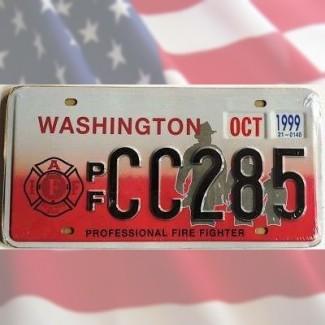 Plaque Pompiers USA Etat de Washington