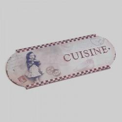 Plaque de cuisine France damier