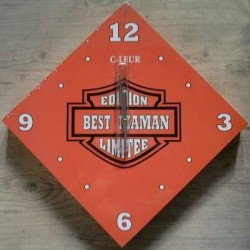 Horloge Best Maman façon Harley-Davidson