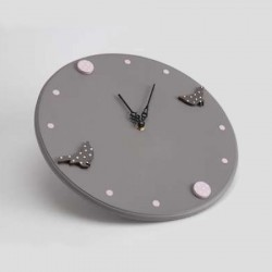 Horloge Rêverie Oiseaux Pois