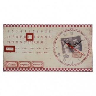 Horloge calendrier vintage enfants