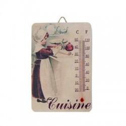 Thermomètre Petite fille dans sa cuisine