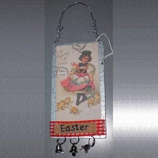 Plaque anglaise de Pâques Easter Poussins