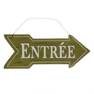 Flèche Entrée en bois direction droite