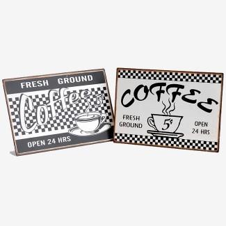 Duo de plaques Coffee