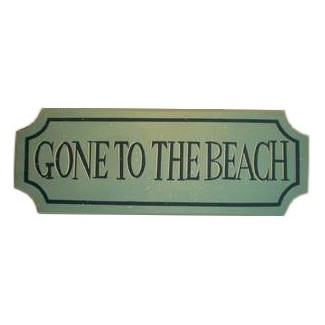 Panneau en bois Gone To The Beach