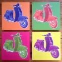 Quatre cadres scooters colors