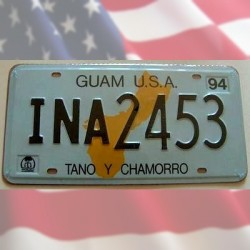 Plaque Immatriculation US Guam