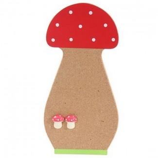Tableau champignon en liège et punaises