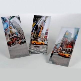 Trois toiles Taxi City New York