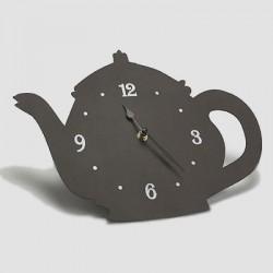 Horloge silhouette théière