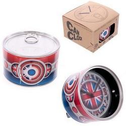 Horloge en boite aimantée London & Drapeau UK
