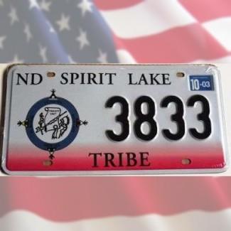 Réplique plaque immat. Washington Spirit Lake