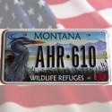 Reproduction de plaque USA Montana Wildlife Refuges