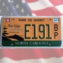 Plaque Caroline du Nord - Blue Ridge Parkway