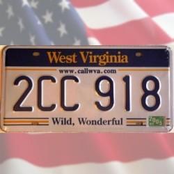 Plaque en métal US Auto Virginie de l'Ouest