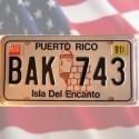 Plaque métal Puerto Rico - Isla Del Encanto