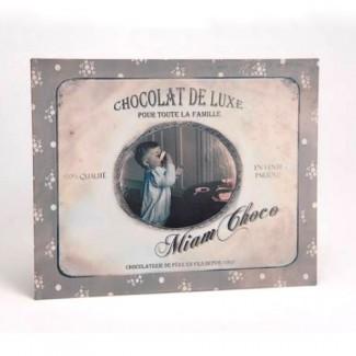 Plaque miam choco - chocolat de luxe