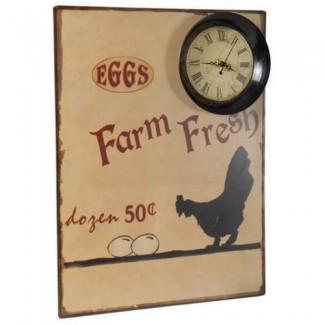 Pendule Farm Fresh Eggs