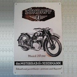 Plaque moto allemande zundapp