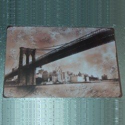 "Plaque ""Pont de Brooklyn"""