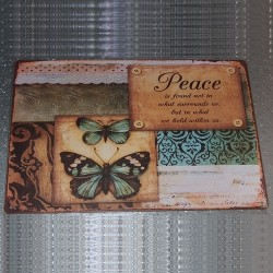 Plaque Paix et Papillons