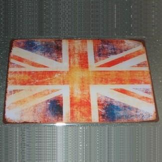 Plaque métallique UK vintage
