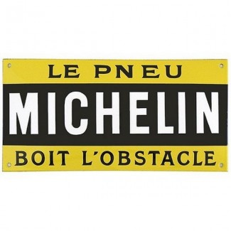 Plaque Michelin Pneu Obstacle