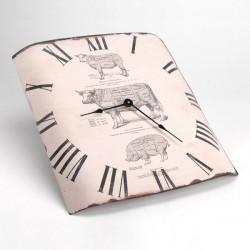 Horloge bombée du boucher