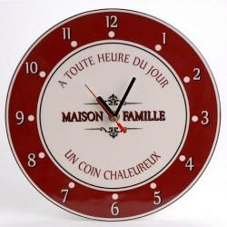 Horloge céramique maison de famille