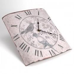 """Horloge bombée """"Les Oiseaux"""""""