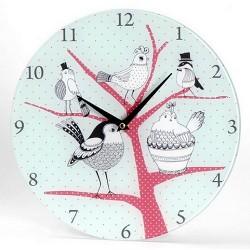 Horloge contemporaine oiseaux naïfs