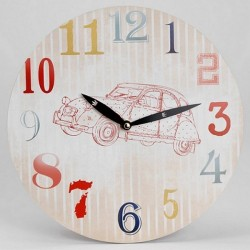 Horloge ronde moderne 2CV