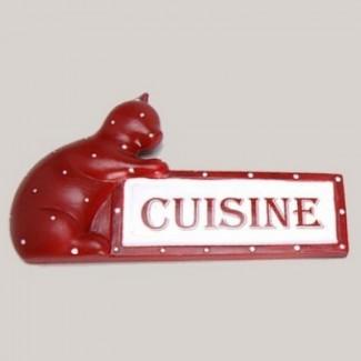 """Plaque de porte chat """"Cuisine"""""""