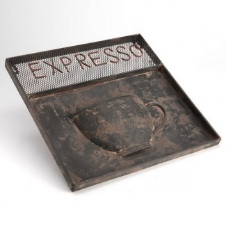 Plaque Int-Ext usée Café Expresso