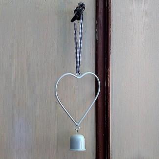 Petit coeur suspension métal 2