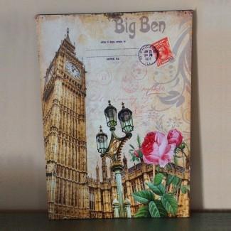 Plaque en bois Big Ben 2