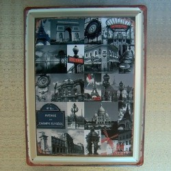 Plaque Symboles et Monuments de Paris