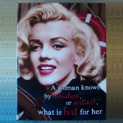 Toile imprimée Marilyn Monroe - A woman knows