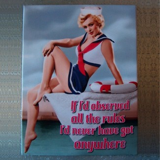 Toile imprimée Marilyn Monroe The Rules