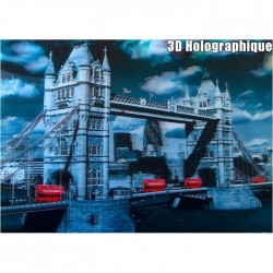 Affiche holographique Tower Bridge