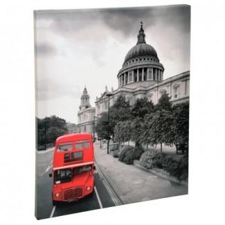 Toile tendue Bus et Cathédrale St-Paul à Londres